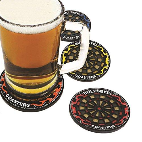 Tamlltide Runde Bullseye Untersetzer für Dartscheibe, Getränkeflasche, Becher, Getränke, 4 Stück