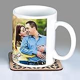 #2: Photo Mug | Personalize | Customizable | White Ceramic | Gift Item | 325ML with FREE Wooden Coasters