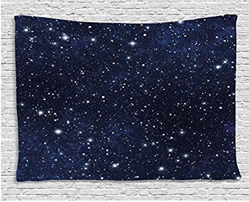Nachtteppich, Stern, gefüllt, Dark Sky Vivid Céleste, Thema: Cosmos, Cluster, Galaktisch, Sterne, Wandbehang, für Schlafsaal, 150 x 200 cm -