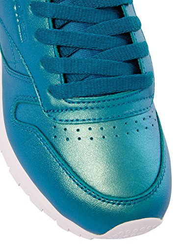 Reebok Classic Leather Pearlized Donna Sneaker Rosa Emerald