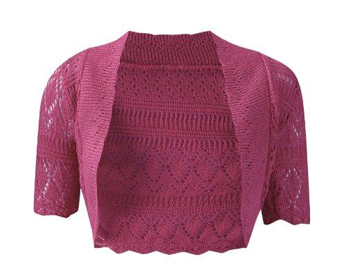 Boléro Femme Crochet Grand Taille Couleur DEté Gilet Court Neuf Fuchsia
