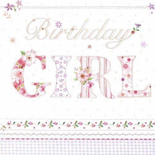 20 Servietten Birthday Girl/Geburtstag/Mädchen/Kindergeburtstag 33x33cm