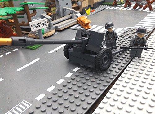 Modbrix 2185 – ☠ Panzerabwehrkanone PAK 40 inkl. Custom Elite Wehrmacht Soldaten aus Lego© Teilen ☠ - 3