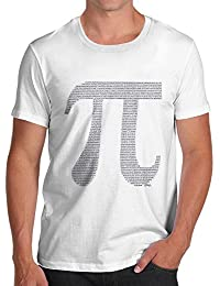 TWISTED ENVY PI Numbers In The Shape Of PI Men's Printed Cotton T-Shirt