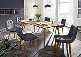 XXS® Holztisch aus Kernbuche | Küchentisch geölt | 180 x 90 cm | quadratischer Echtholz-Tisch | massiv und pflegeleicht | stabverleimt | individuelles Unikat [521879]