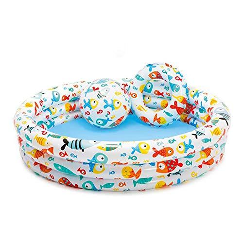 AMhuui Babyschwimmbad, Familienschwimmbad Planschbecken, Aufblasbare Kinderpool Bälle Pool Sandbecken Rundschreiben