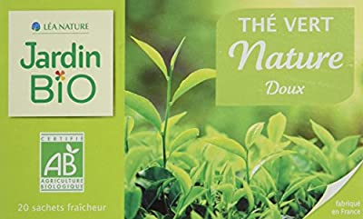 Jardin Bio Thé Vert Nature Doux 40 g - Lot de 4