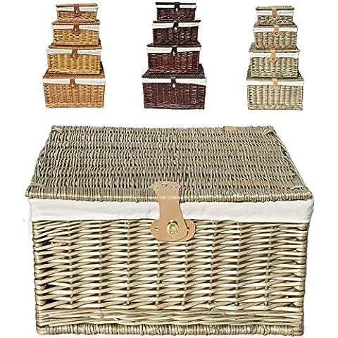 Tradizionale cesto Natalizio con coperchio da Picnic regalo vuoto Storage