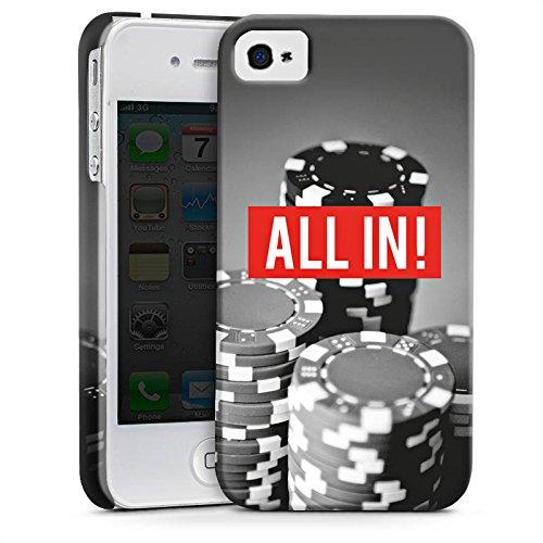 Apple iPhone 5c Silikon Hülle Case Schutzhülle All in Poker Chips Premium Case glänzend