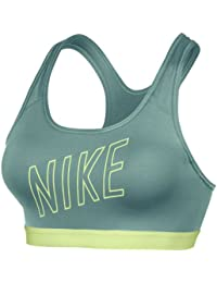 Nike  Pro Classic Pad Logo Bra - Sujetador deportivo para mujer, multicolor, talla M