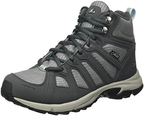 Viking Impulse Mid, Chaussures de Trekking et Randonn&EacuteE Femme Gris - Grau (GREY/LIGHT Blue 356)