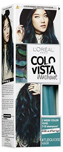 L'Oréal Paris Colovista 2-Week Washout #TURQUOISEHAIR, Haarfarbe, auswaschbar nach 7-15 Haarwäschen, türkisfarben, #DOITYOURWAY