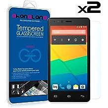 PACK 2 protector pantalla de cristal templado Premium para BQ Aquaris E6 E6.0