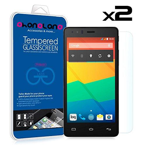 PHONELAND Pack 2 Protector Pantalla de Cristal Templado Premium para BQ Aquaris M5 M5.0