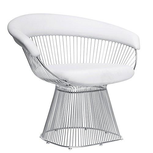 Fine Mod Imports Libo Chair (Set of 2), White