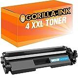 Gorilla-Ink® 4 Toner-Kartuschen XXL für HP CF217A Laserjet Pro M102 A M102 W M130 A M130 FN M130 FW M130 MFP