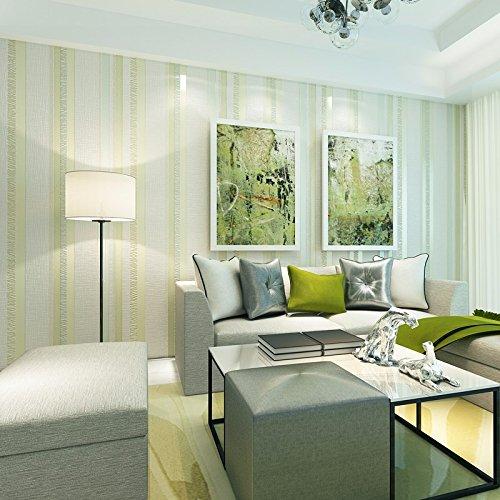 JSLCR Einfachen blauen Längsstreifen in der mediterranen Vliestapete Wohnzimmer Schlafzimmer Wände Speisesaal wallpaper,Hellbeige