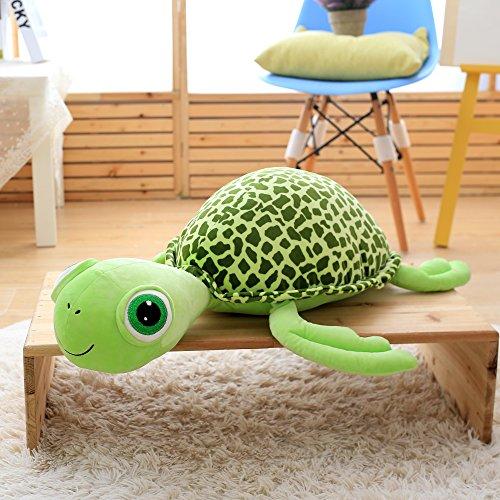 VERCART Tier Kuscheltier Stofftier Plüschtiere Plüsch Kinderspielzeug Schildkröte Grün 120cm (Riesen-schildkröte Tiere)