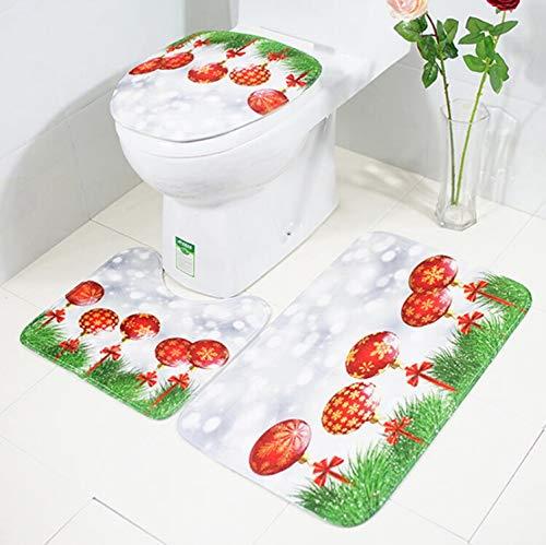 SonMo 3-Teiliges Badezimmerteppich-Set Badvorleger Badezimmerteppich Wc-Abdeckung WC Badematte...