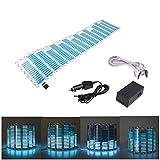 Eximtrade Auto LED Licht Klingen Musik Aufkleber Equalizer Leuchten Audio Stimme Rhythmus Lampe (Blau)