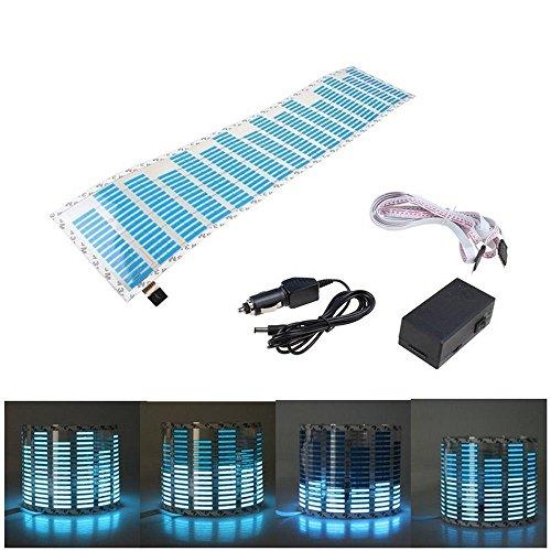 Auto Blitz Für Fm-transmitter (Eximtrade Auto LED Licht Klingen Musik Aufkleber Equalizer Leuchten Audio Stimme Rhythmus Lampe (Blau))
