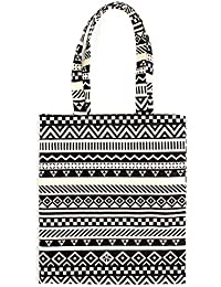 AlleGt Women Fashion Handbag - Black Stripe