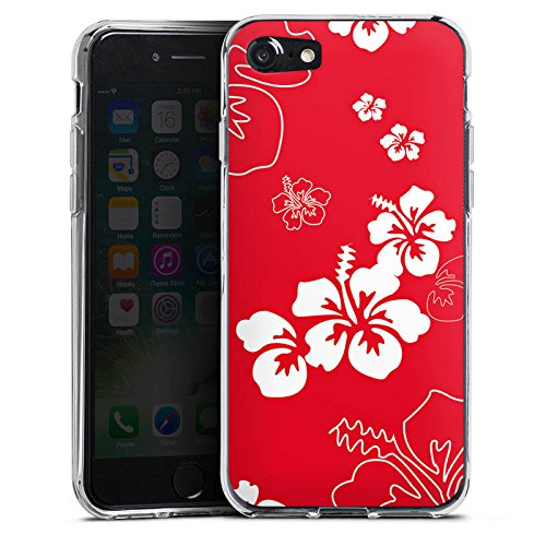 Apple iPhone X Silikon Hülle Case Schutzhülle Sommer Blumen Muster Silikon Case transparent