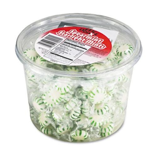 arlight Mints, Spearmint Hard Candy, Indv Wrapped, 2lb Tub by Office Snax ()