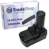 Trade Shop Premium Batteria agli ioni di litio 10,8V/2000mAh sostituisce Hitachi BCL1015bcl1030BCL1030A bcl1030m 329369329370329371329389331065per CJ10DL CR10DL DB10DL DB3DL DS10DFL fcg10dl fch10dl FCR10DL