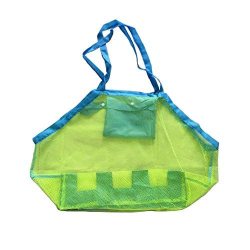 SPEEDEVE Strandspielzeug Tasche Aufbewahrung Netz Strandtasche Sandspielzeug Wasserspielzeug Beutel Größe 45*30*45cm