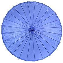 Ppower Paraguas estilo japonés chino bambú Sombrilla Paraguas de danza (Azul oscuro)