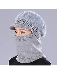 RIVAY Home Sombrero de Lana de Espesamiento de Invierno de Mediana Edad y de Edad Avanzada para Mujer Sombrero de Abuela anciana…