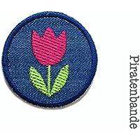 Jeansflicken Tulpe Patch zum Aufbügeln Bügelbild