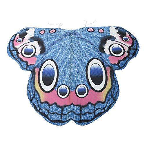 Kostüm Jacke Fbi (Damen Weicher Gewebe Schmetterlings Flügel Schal, Zolimx Nymphen Pixie Kostüm Zusatz (Blau)