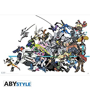 ABYstyle Abysse Corp_ABYDCO444 Overwatch - Póster de Todos los Personajes (91,5 x 61)