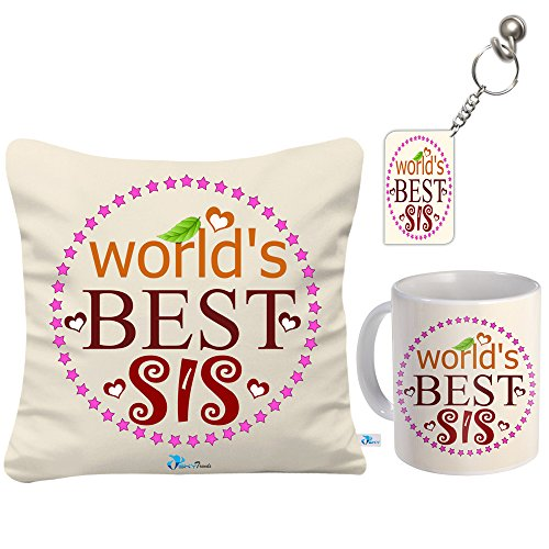 Sky Trends Gifts Set Of 1 Coffee Mug,1 Keychain And 1 Cushion Cover With Filler
