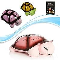 Türkçe Ninnili Kaplumbağa Gece Lambası (Pembe)