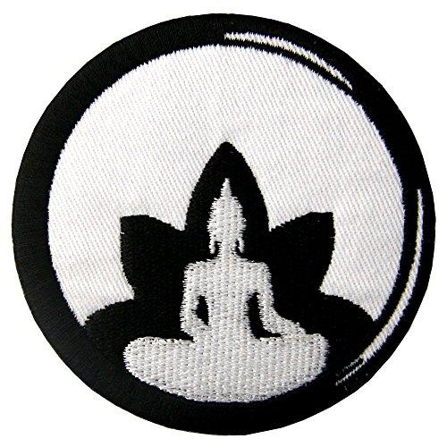 Parche termoadhesivo para la ropa, diseño de Buda Budismo de loto Zen