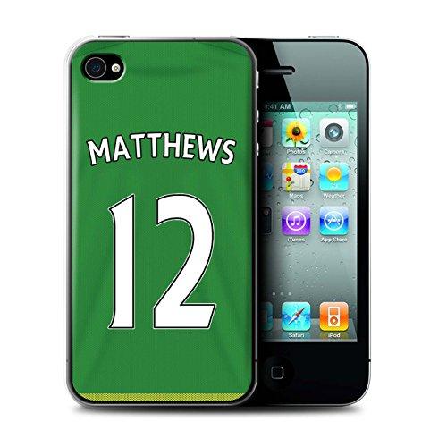 Offiziell Sunderland AFC Hülle / Case für Apple iPhone 4/4S / Pack 24pcs Muster / SAFC Trikot Away 15/16 Kollektion Matthews