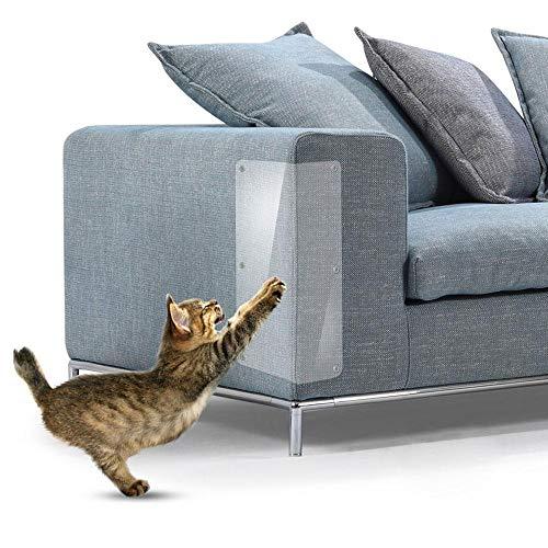 AOLVO Katzenmöbelschutz, 2 Stück Katzenkrallenschutz, Anti-Kratz-Matratzen-Schutz - stoppt Haustiere vom Kratzen von Möbeln, Polstermöbeln, Sofa, Couch, Tür und Katzenkratzschutz Pad (Kratzen Tür Pad)