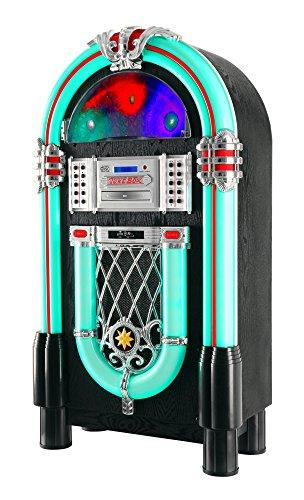 Beatfoxx GoldenAge Jukebox anni 40/50 con LP, CD, USB, lettore MP3, radio e Bluetooth