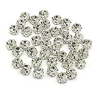 Pack de 100impresionante calidad Sew On pegamento en espalda plana de cristal brillantes en punto plata & oro Carcasas