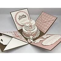 Explosionsbox zur Hochzeit (Geschenk, Geschenkverpackung), Heirat, Trauung, Eheschließung, individuell und handgefertigt