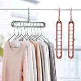 Stylish Multi Functional Clothes Hanger Holder Portable Anti-Slip Storage Rack Space Saving Hook for Garment Drying (Colours May Vary, Pack of 3)