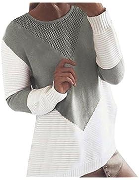 Suéter de Mujer Invierno Jersey Mujer otoño Blusa de Manga Larga Suéter de Punto de Color cálido para Mujer suéter...
