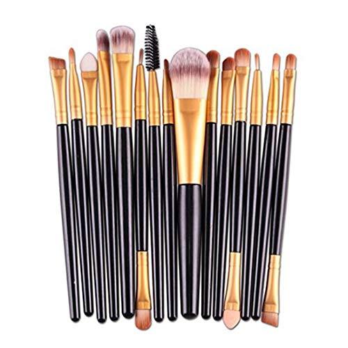 Drawihi 15 pcs Pinceau de Maquillage Brosse Multifonction de Haute Qualité Outils de Maquillage pour Filles