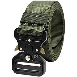 Taktische Pflicht Rigger Gürtel, MOLLE militärischen Schnellverschluss Schnalle Taillenband, Nylon Web EDC Waistbelt (Army Green)
