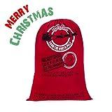 hblife Merry Christmas Juta per Regalo di Natale Corna di Renna e Babbo Natale Mail Post Borsa