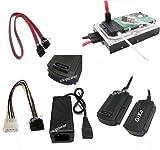 GiXa USB Adapter zu SATA und IDE Festplatte. USB zu IDE und SATA adapter auch für CD / DVD Laufwerke geeignet. Unterstützte Software: Windows XP / ME / 2000 / Windows 98SE / Vista / W7 /Mac OS