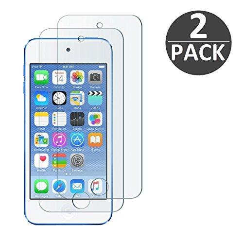[2 Stück] iPod Touch Gen. 5 / Gen. 6 Schutzfolie Panzerglas, wortek Panzerfolie [Anti-Kratz, Ultra-Clear] 9H Displayschutz Schutzglas